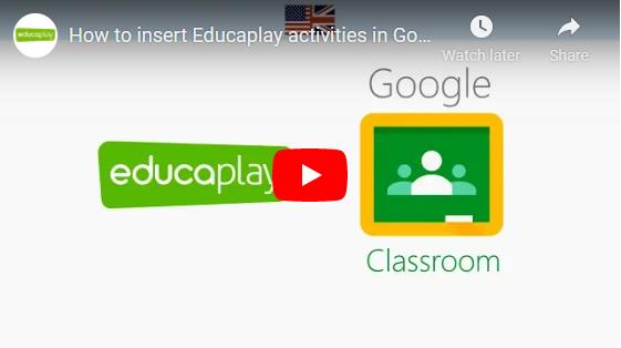 How to insert Educaplay activities in Google Classroom