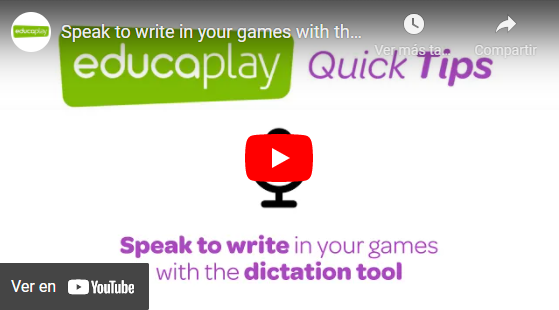 Video speak to write in your games