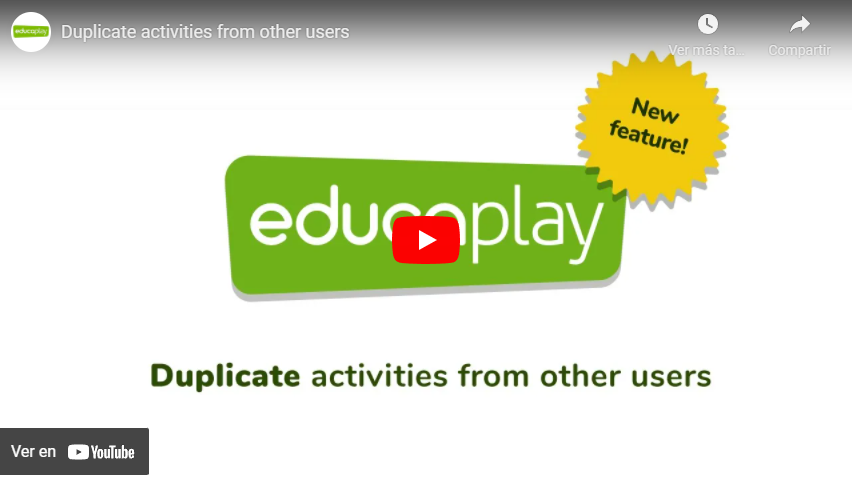 Video duplicate activities from other users