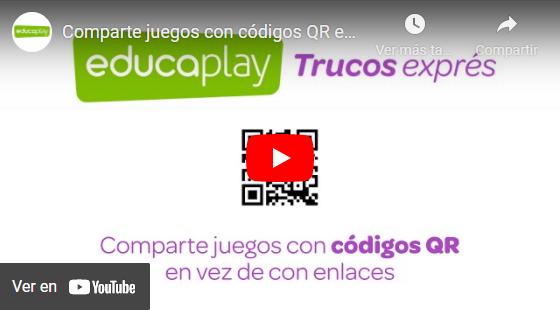 Video compartir actividades con códigos QR
