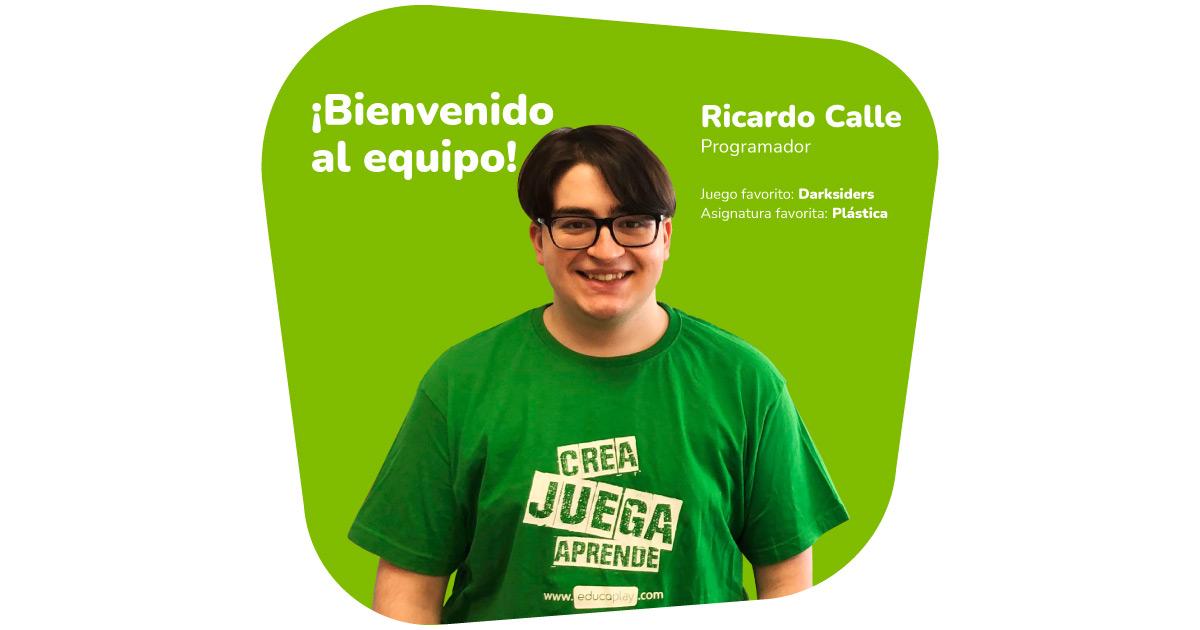 Ricardo Calle ficha por Educaplay Bienvenido al equipo